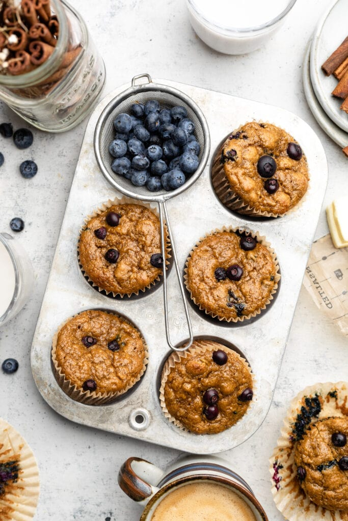baked muffins in tin
