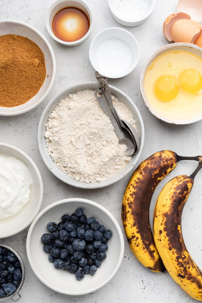 blueberry banana muffin ingredients