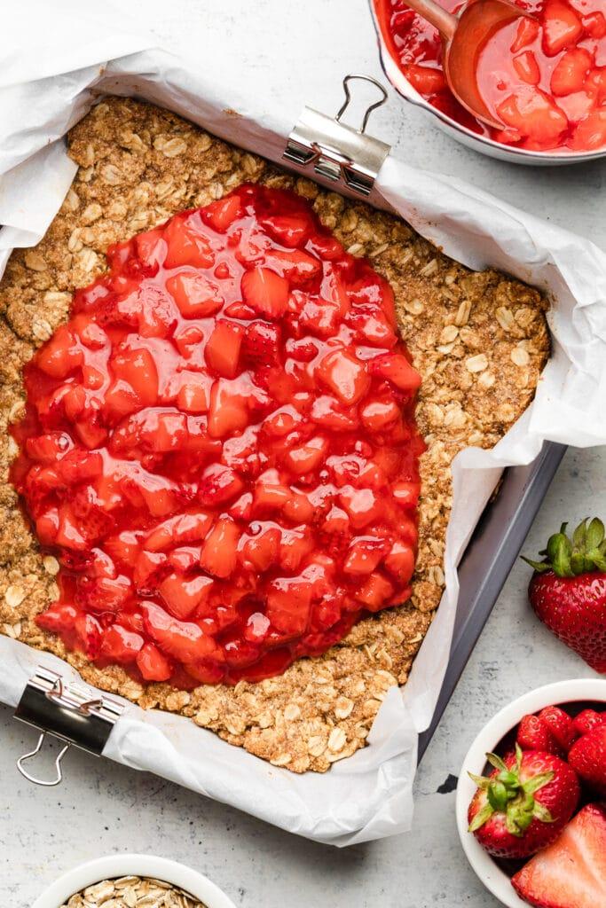 crust with strawberry jam