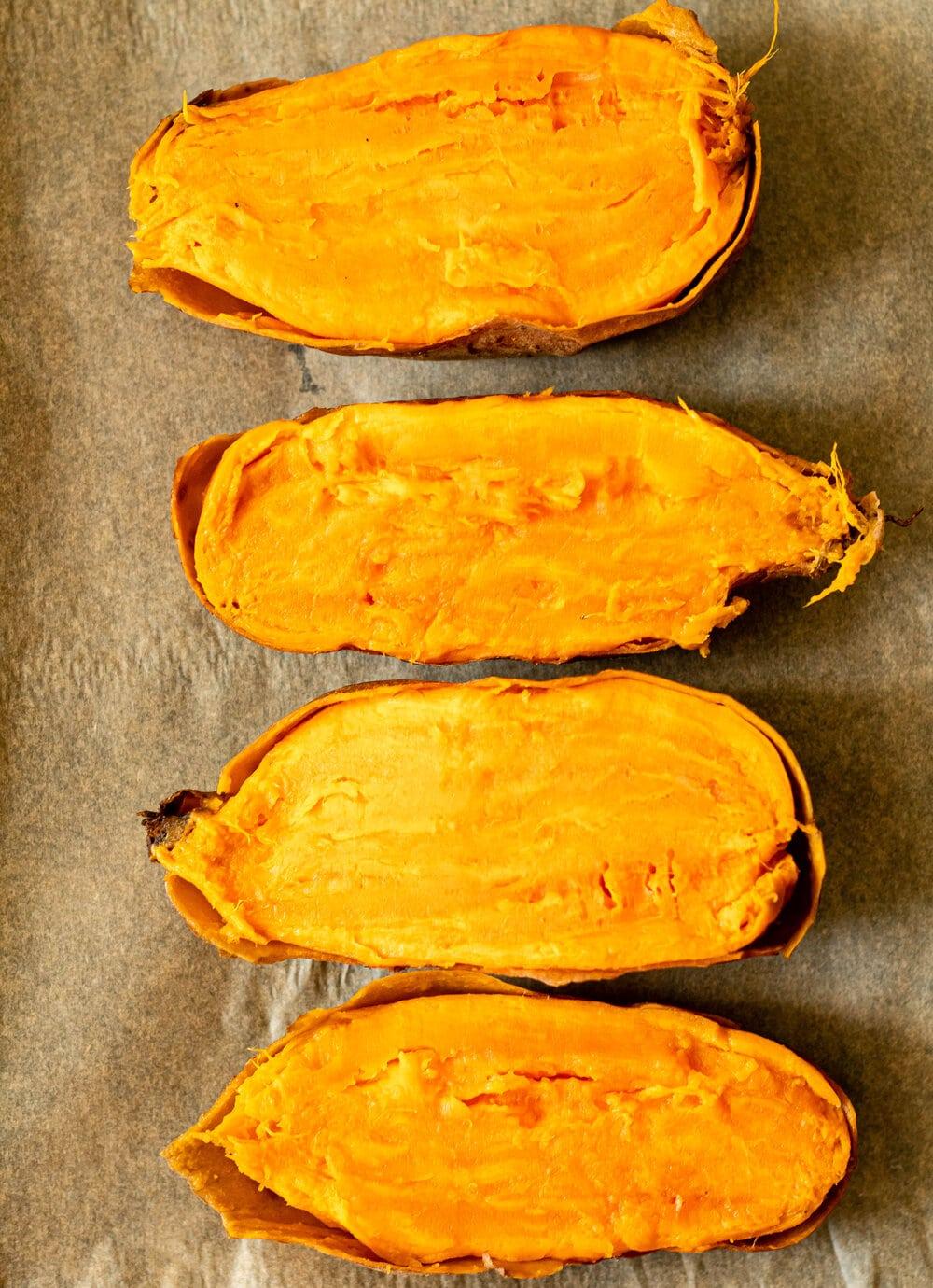 Almond Butter Sweet Potato Muffins_roasted sweet potatoes.jpg
