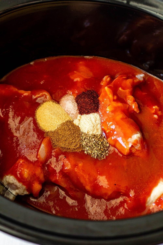 Gluten Free Chicken Enchilada Casserole_slow cooker.jpg