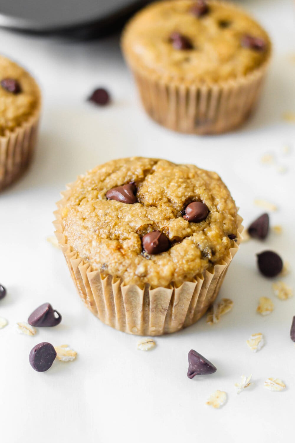Healthy Gluten Free Banana Chocolate Chip Muffins side view.jpg