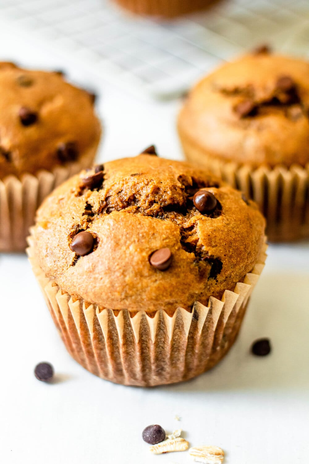 Healthy Peanut Butter Banana Oat Muffins_side view.jpg