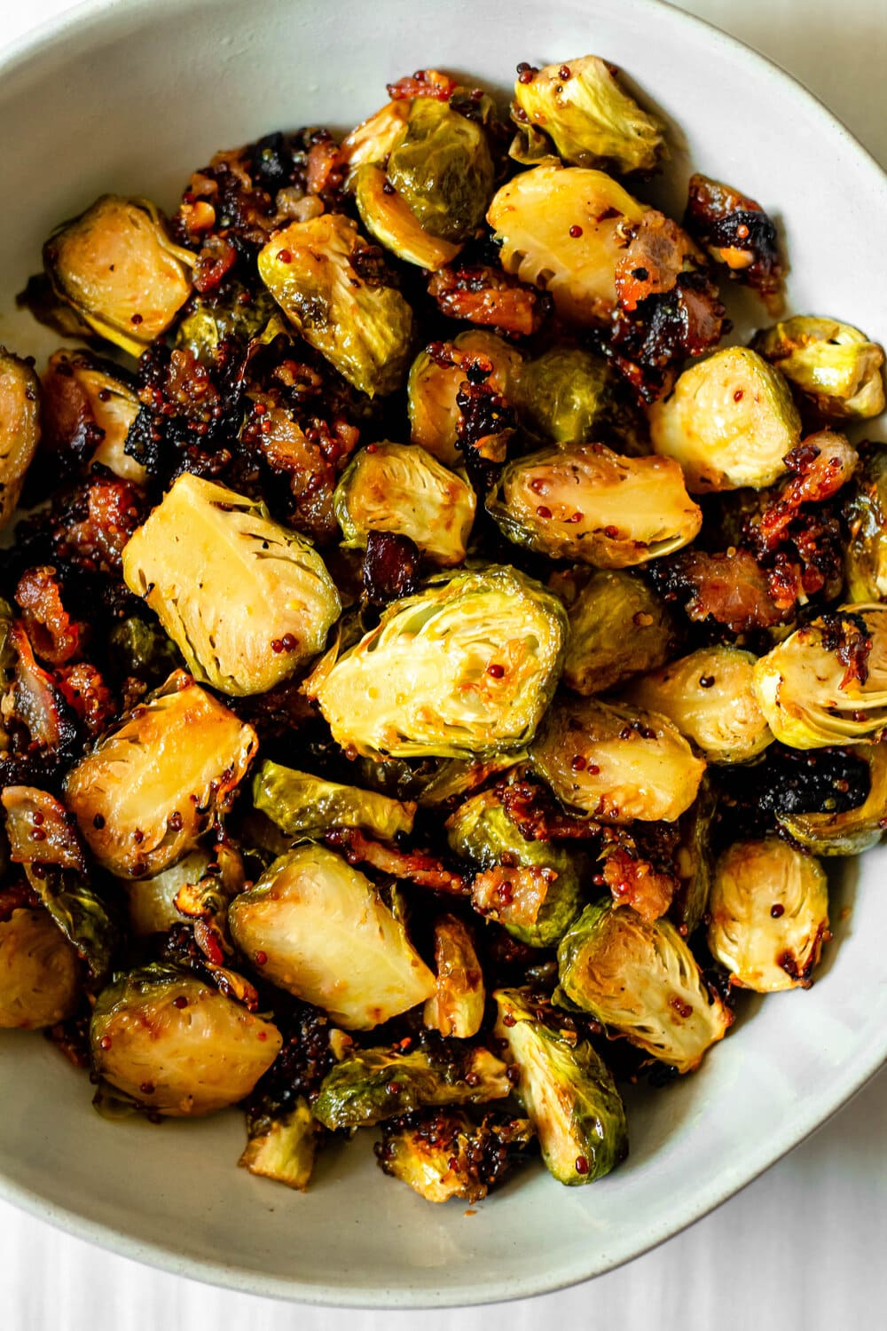 Honey Roasted Brussels Sprouts_overhead shot.jpg