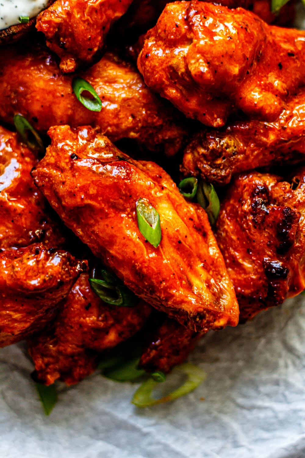 Whole30 Crispy Buffalo Chicken Wings - All the Healthy Things
