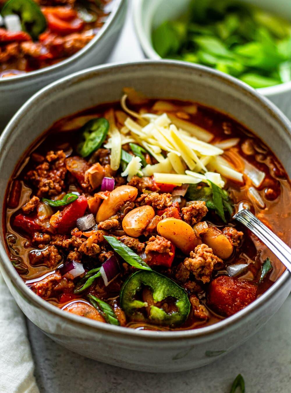 Healthy White Bean Turkey Chili