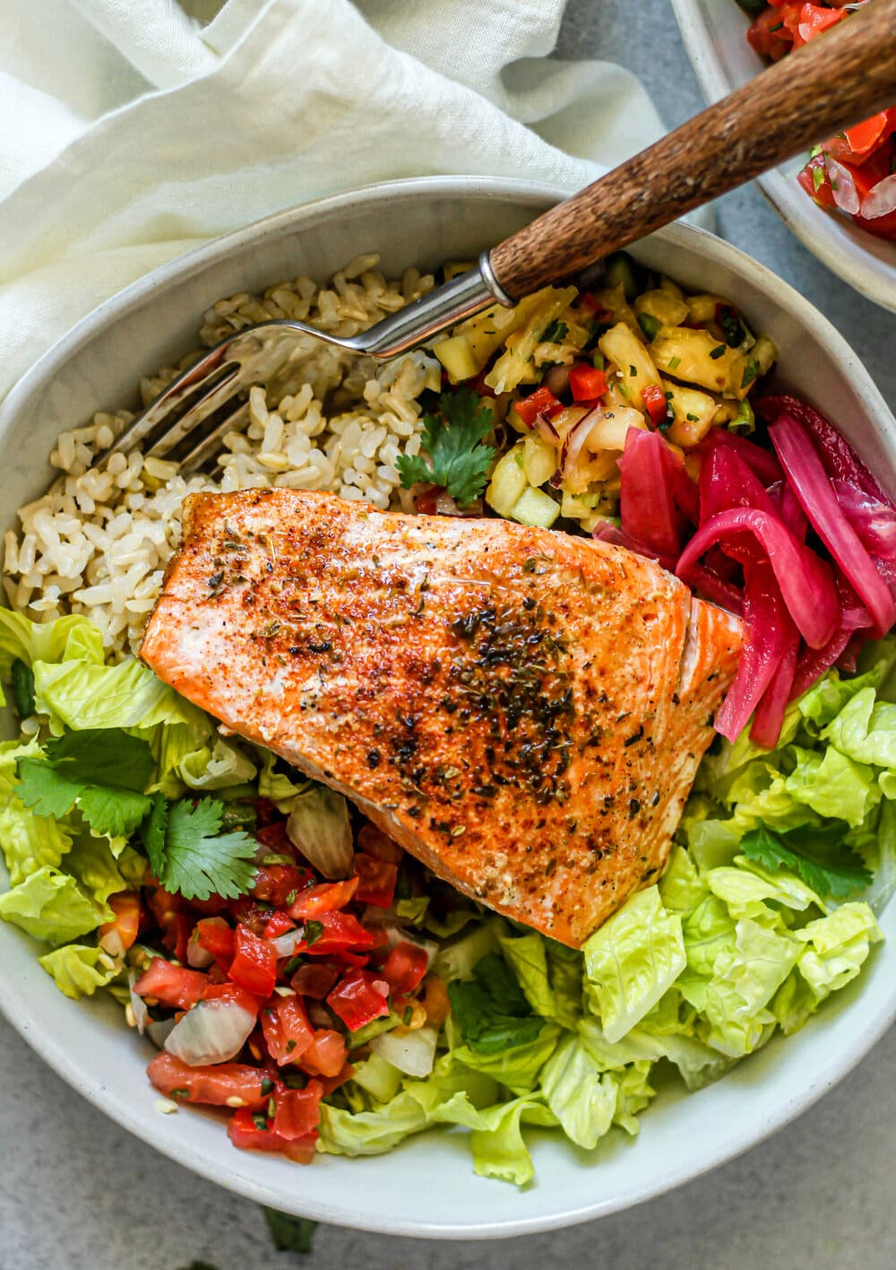 Easy Salmon Burrito Bowl