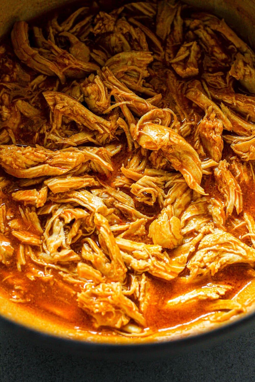 Easy Shredded Buffalo Chicken