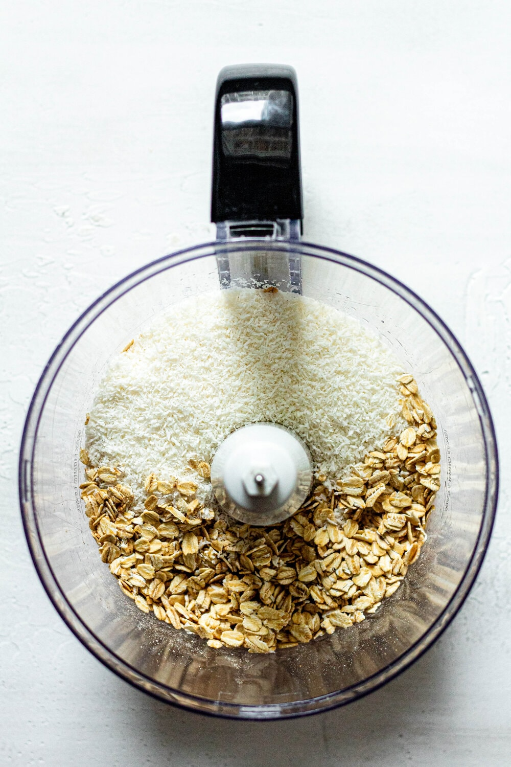 oats and coconut in a food processor