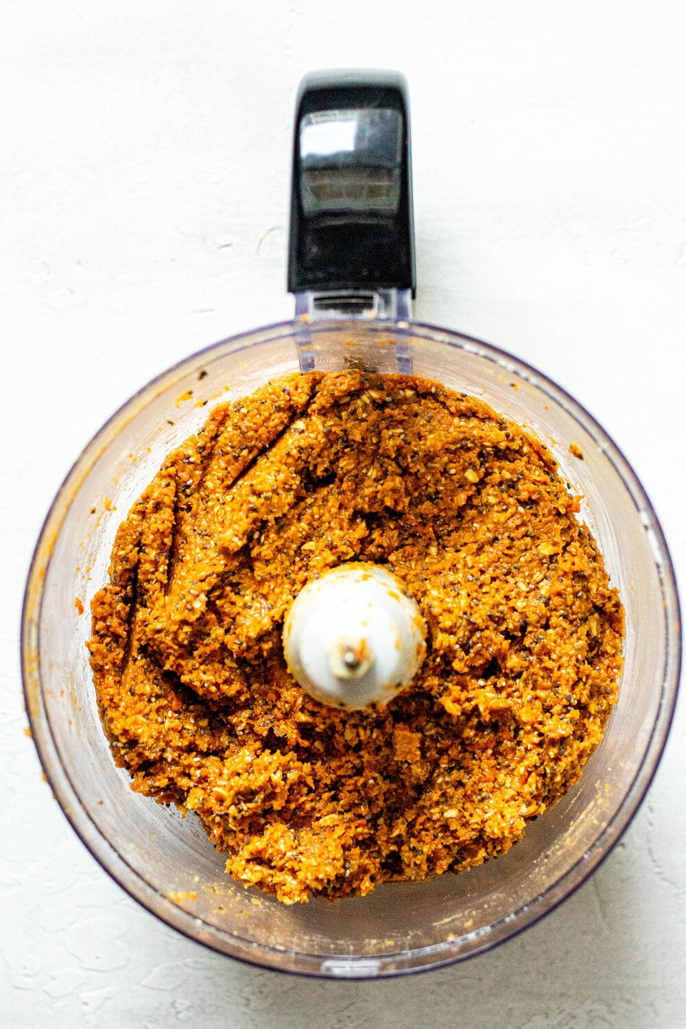 Carrot Cake Energy Bite dough in food processor