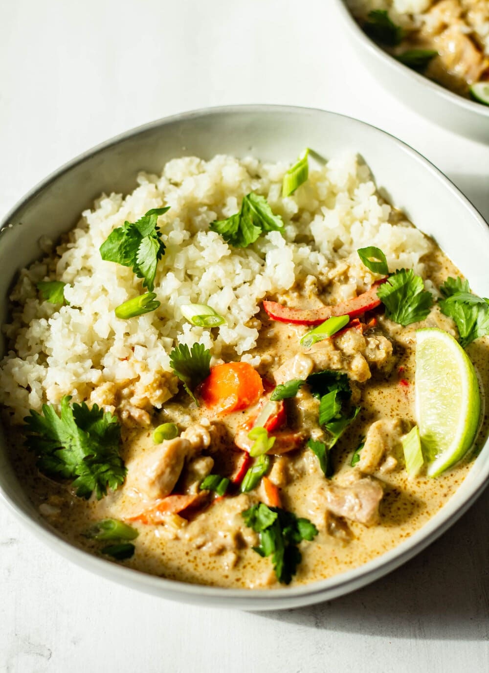Thai Green Curry with Chicken and Vegetables