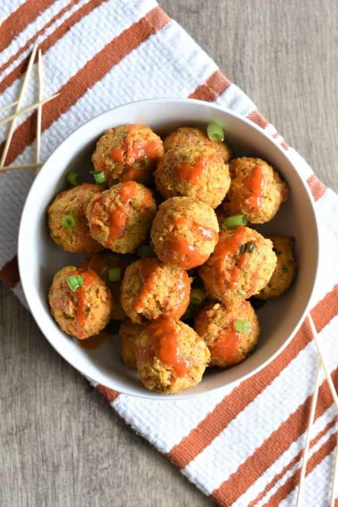 Buffalo Chickpea Meatballs