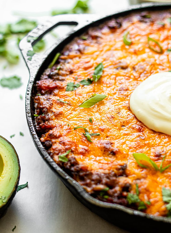 One Skillet Enchilada Casserole