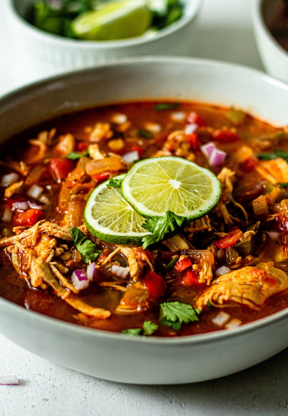 Healthy Chicken Taco Soup (Whole30, Paleo, Gluten-Free)