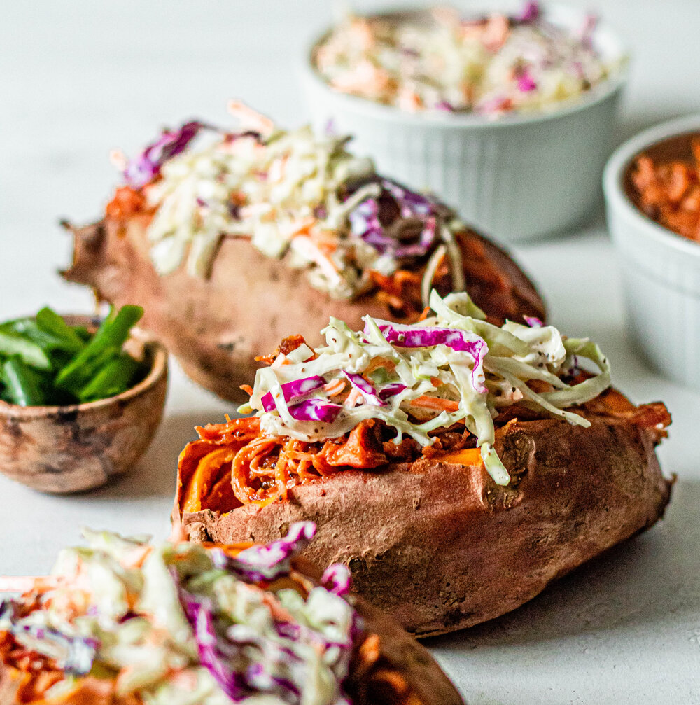 BBQ Chicken Stuffed Sweet Potatoes (Whole30 + Paleo)