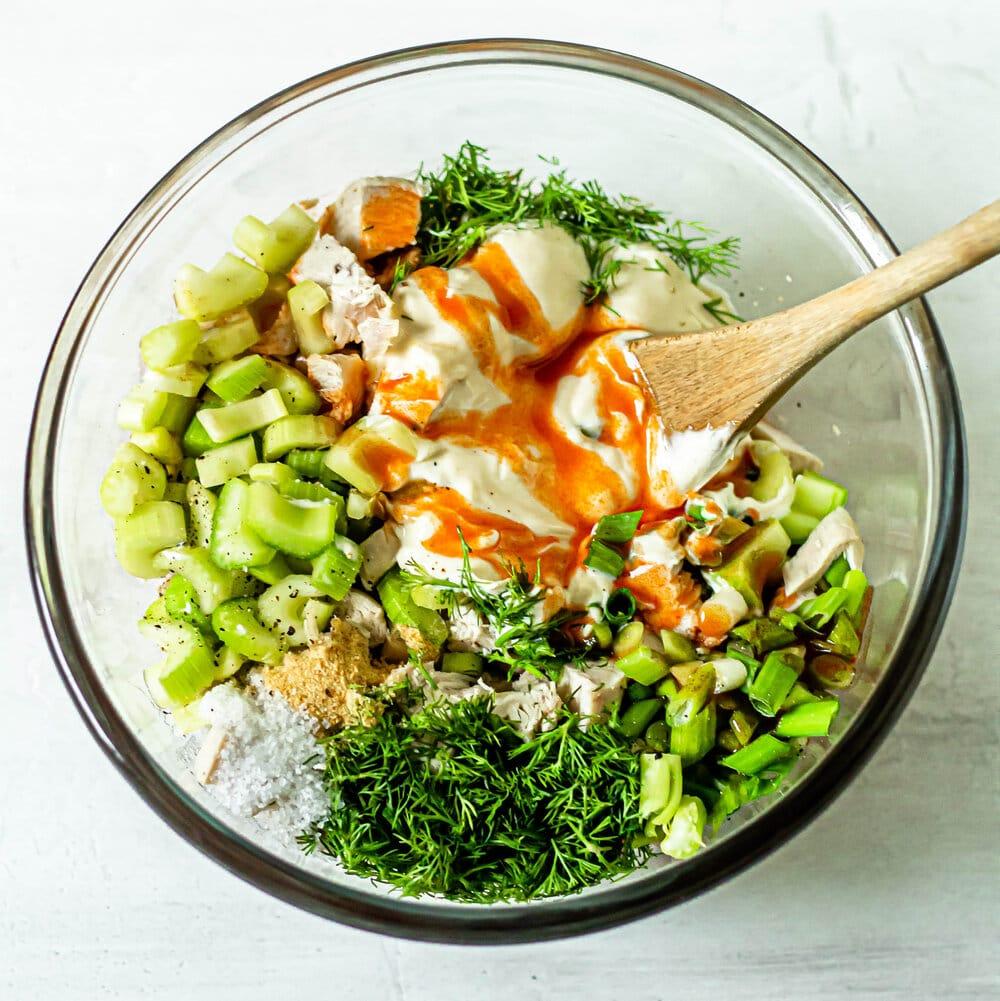 Healthy Buffalo Chicken Salad (Whole30, Paleo, Gluten-Free)