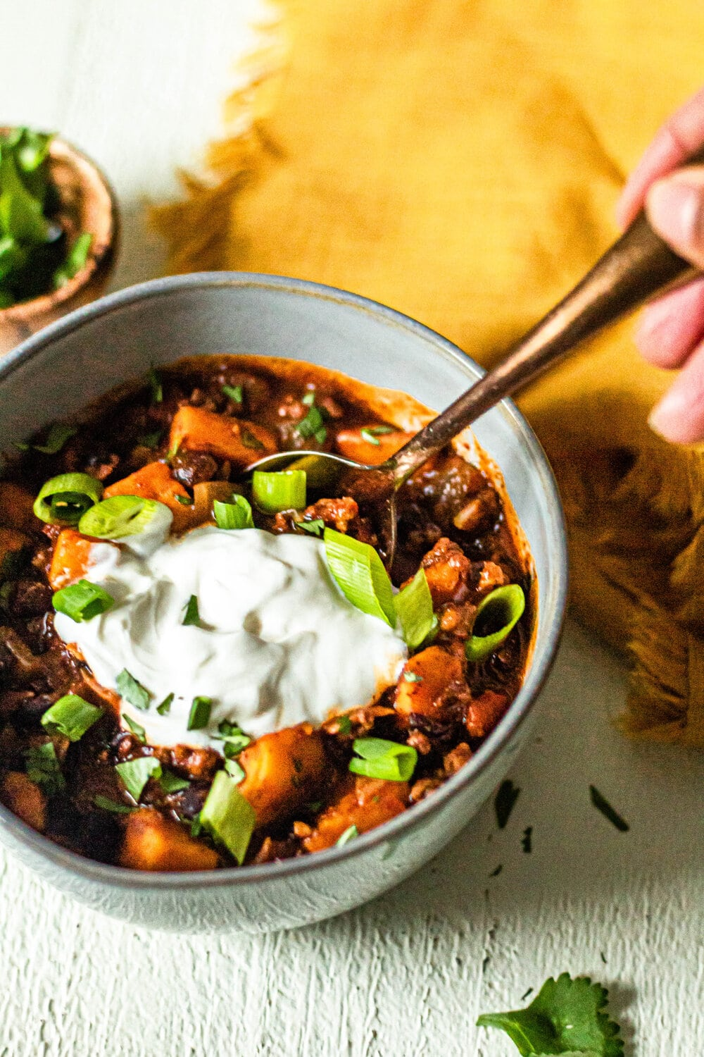Sweet Potato and Black Bean Chili (Gluten-Free + Whole30 Option)