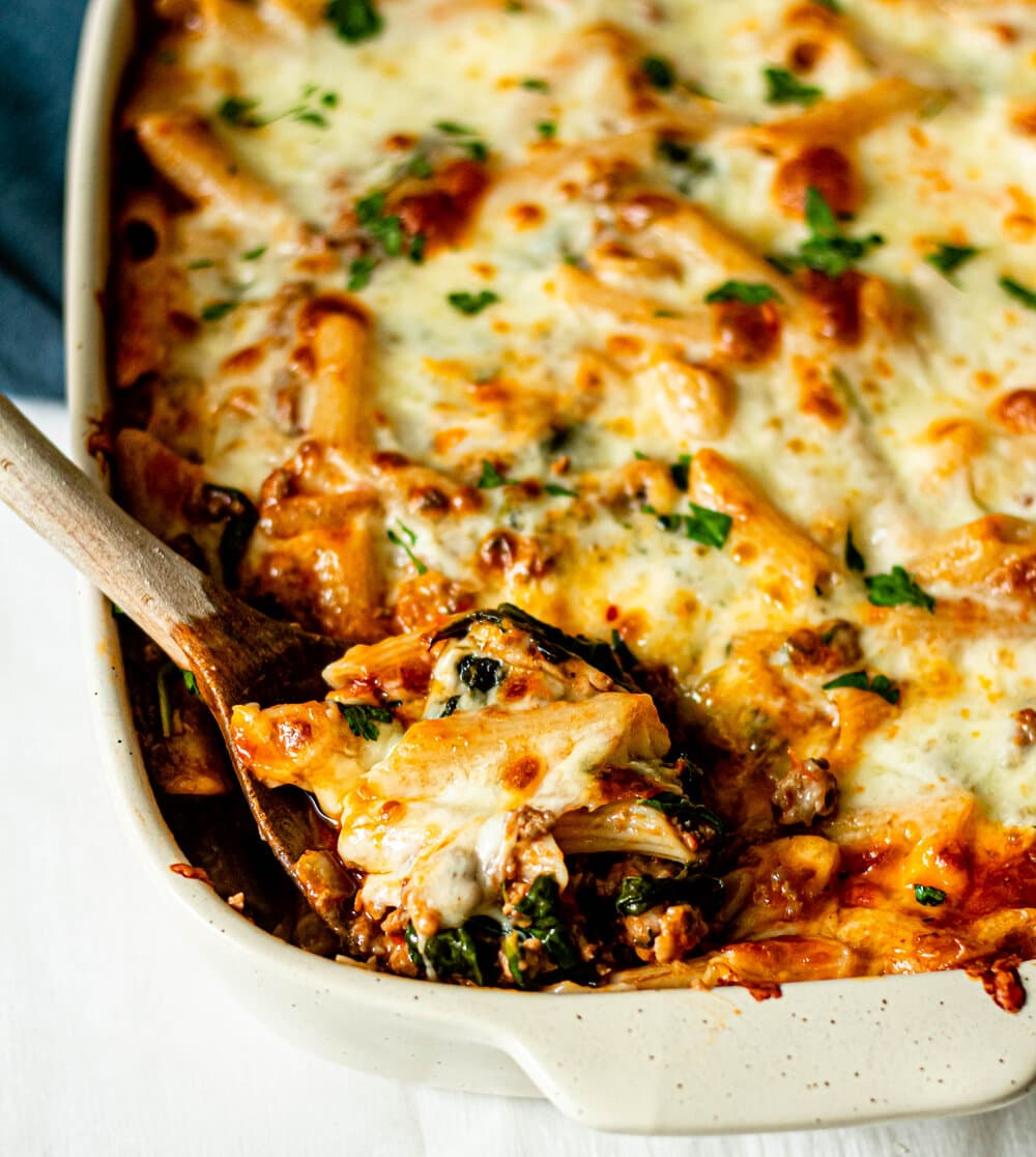 Italian Baked Penne Pasta Casserole (Gluten-Free)