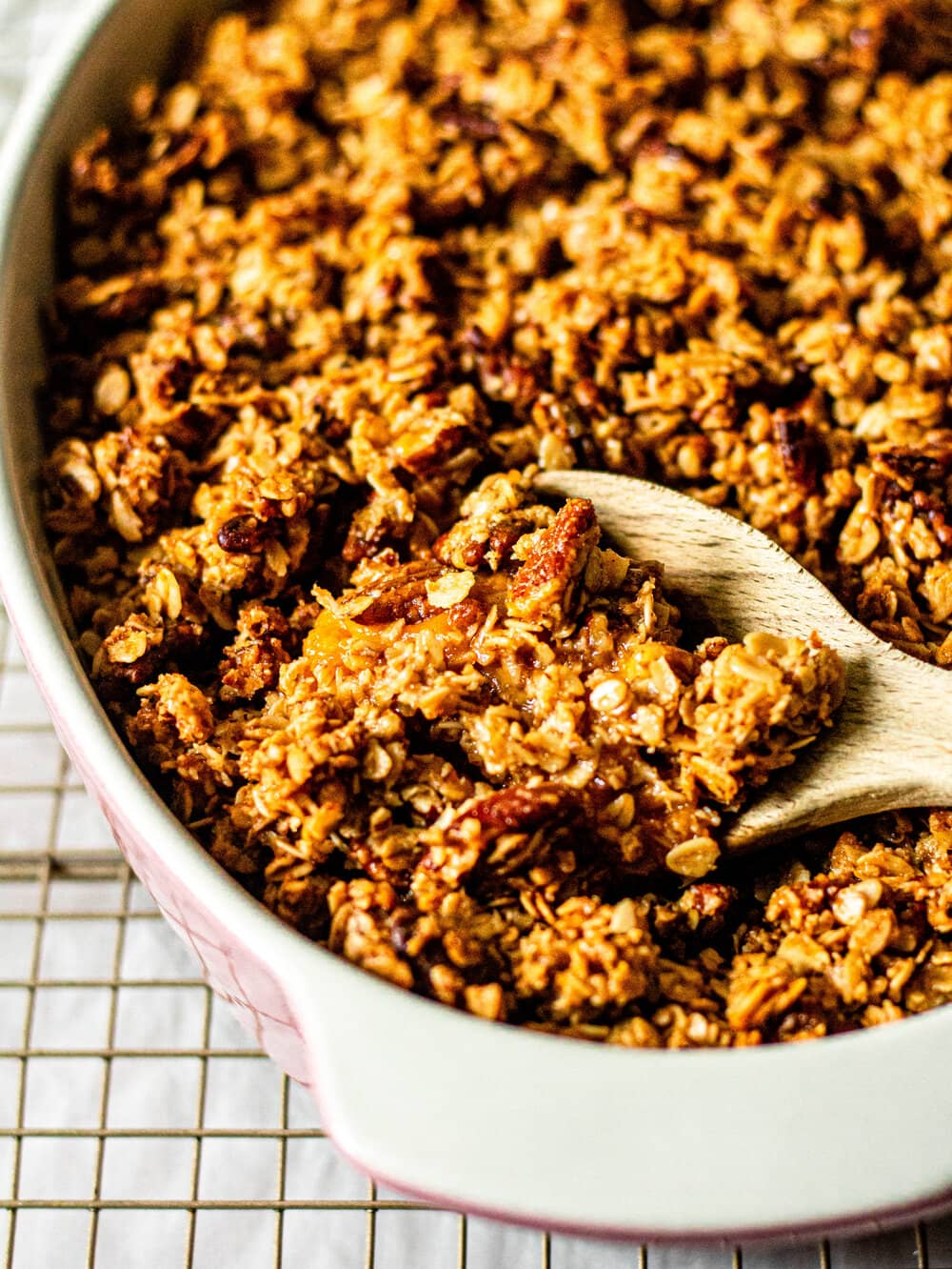 The Best Ever Sweet Potato Casserole with Pecan Streusel Oat Topping (Gluten-Free, Nut-Free Option, Dairy-Free Option)