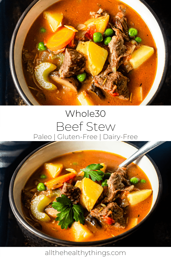Whole30 Beef Stew (Slow Cooker + Stove Top)