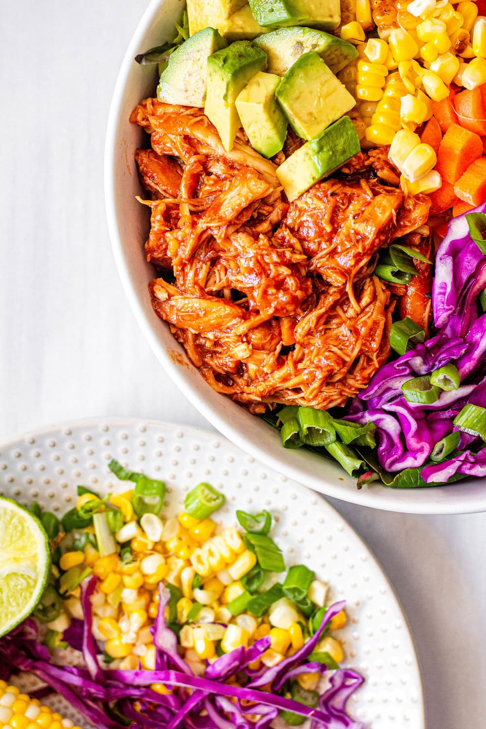 Slow Cooker BBQ Chicken Salad with Jalapeño Ranch Dressing