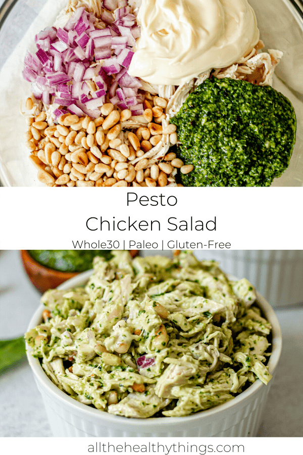 Basil Pesto Chicken Salad (Whole30, Paleo, Dairy-Free)