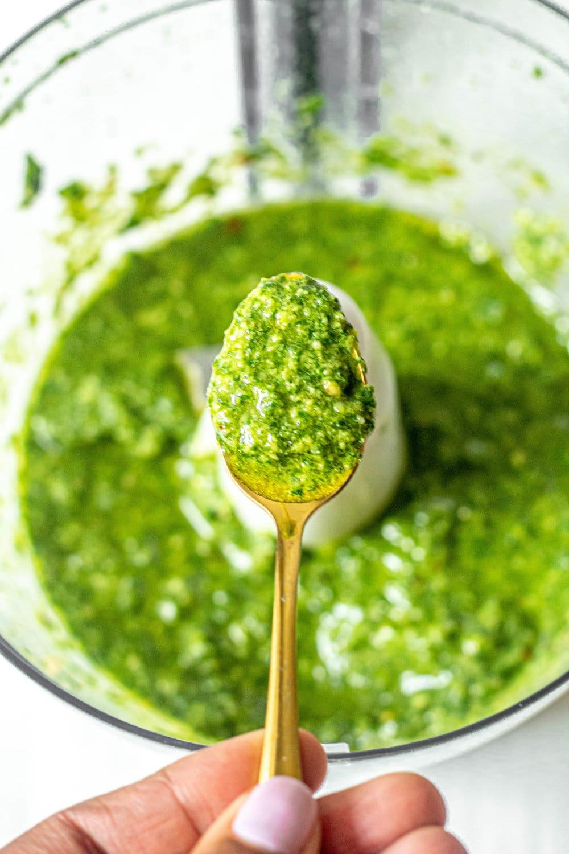 Dairy-Free Basil Pesto (Vegan, Paleo, Gluten-Free)