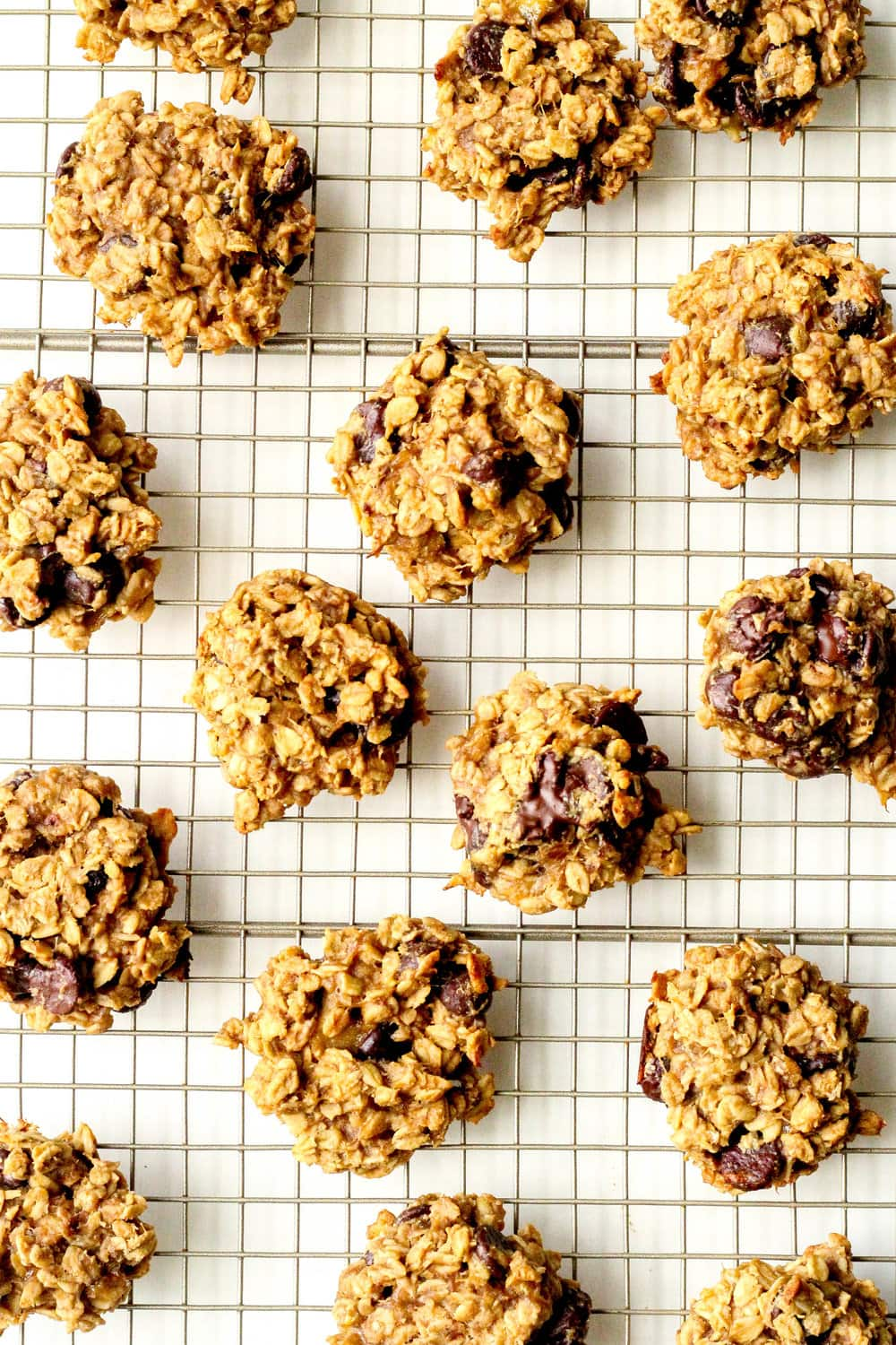 Peanut Butter Banana Chocolate Chip Oatmeal Cookies