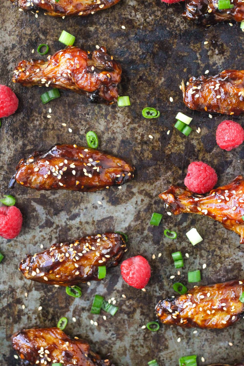 Sweet and Sticky Raspberry Asian Wings