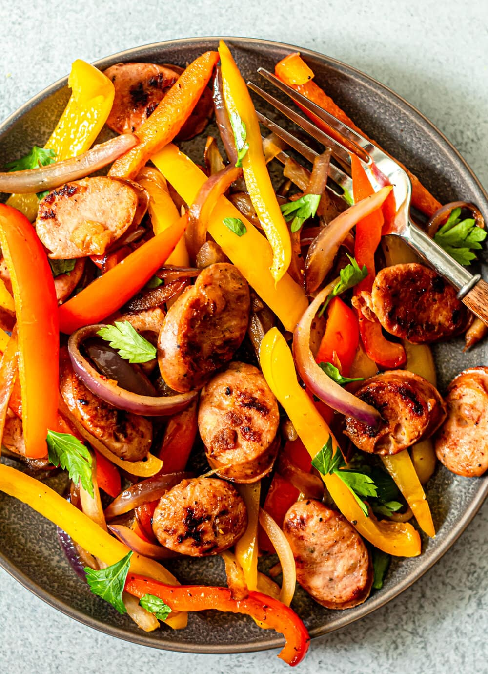 Easy Sausage and Pepper Skillet (Whole30, Paleo, Gluten-Free)