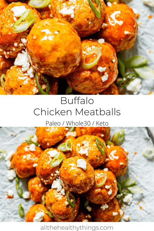 Buffalo Chicken Meatballs (Keto, Paleo, Whole30)