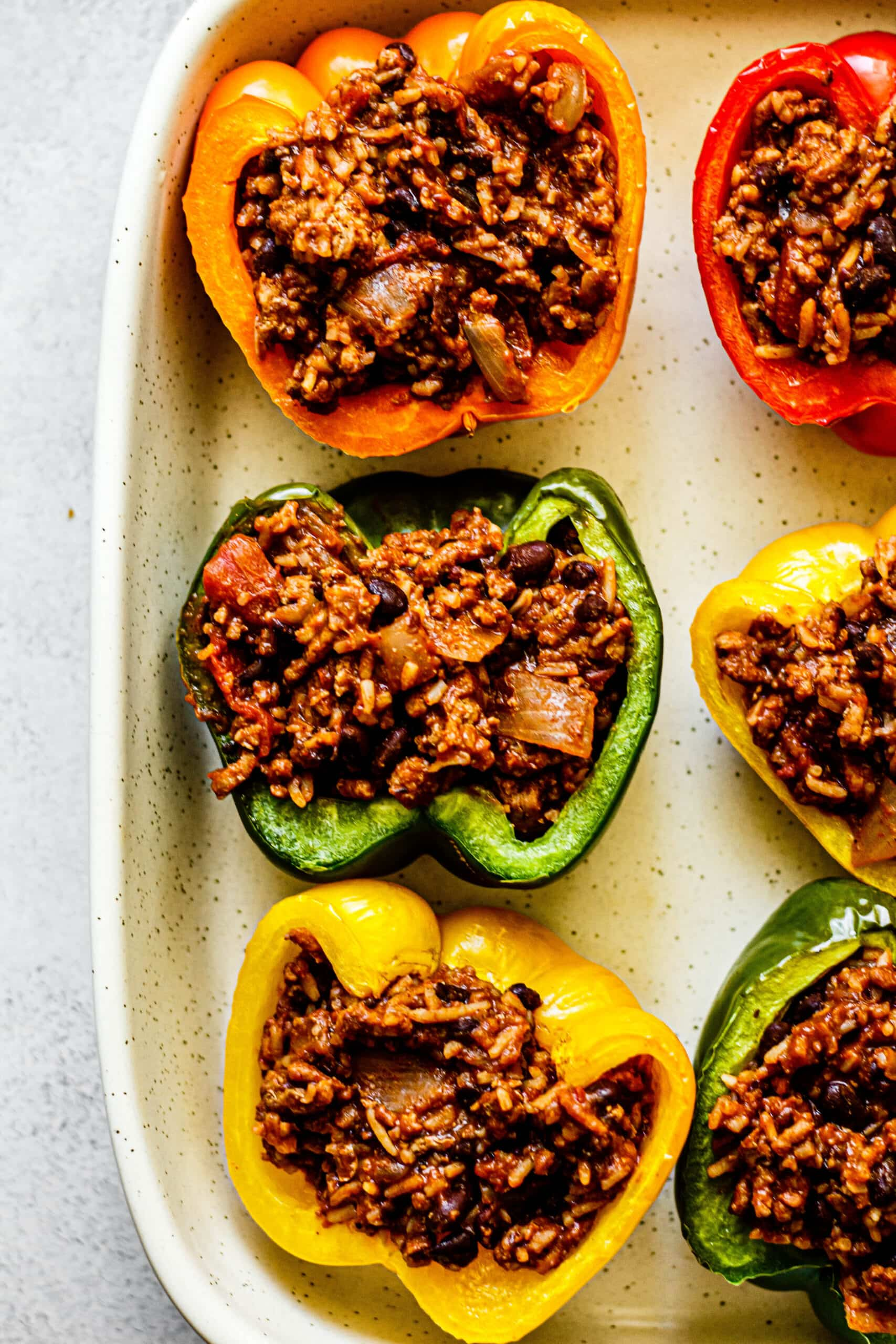 bell peppers stuffed with filling