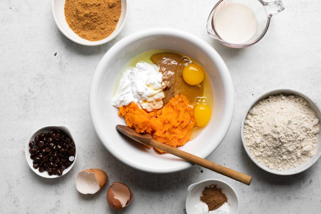 sweet potato muffin ingredients