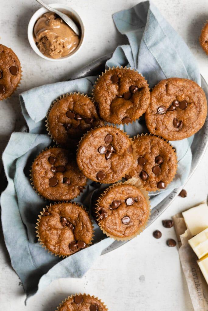 basket of sweet potato muffins