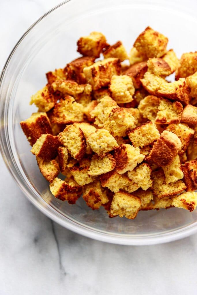 cornbread in bowl