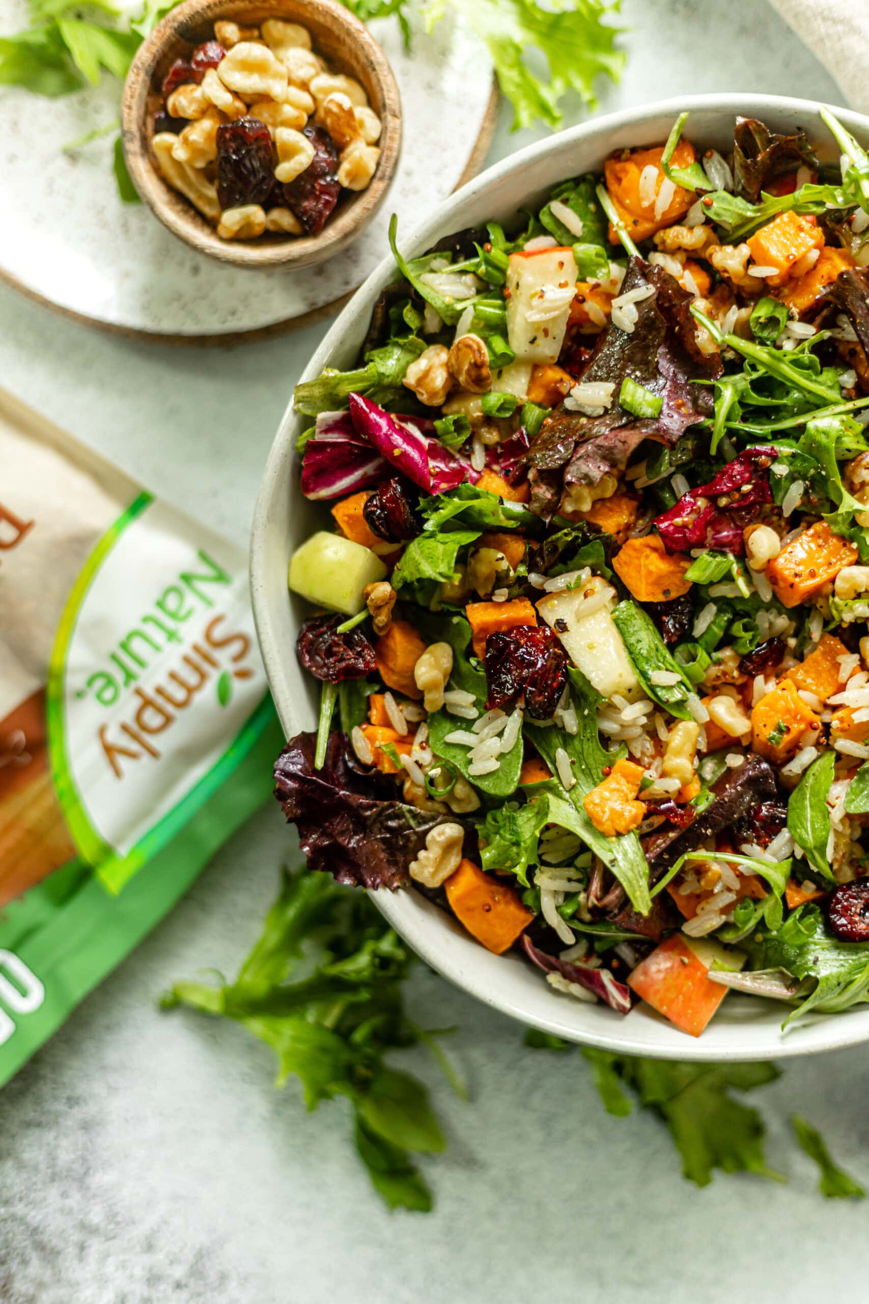 Roasted Sweet Potato Salad With Honey Dijon Dressing All The Healthy Things