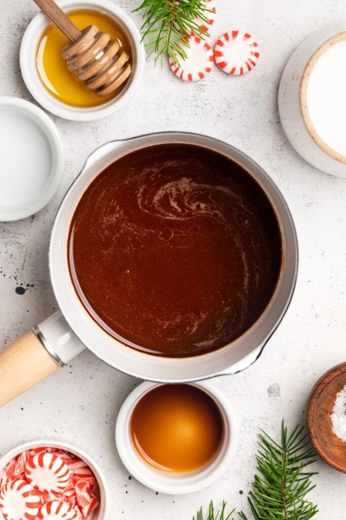 ingredients in small saucepan