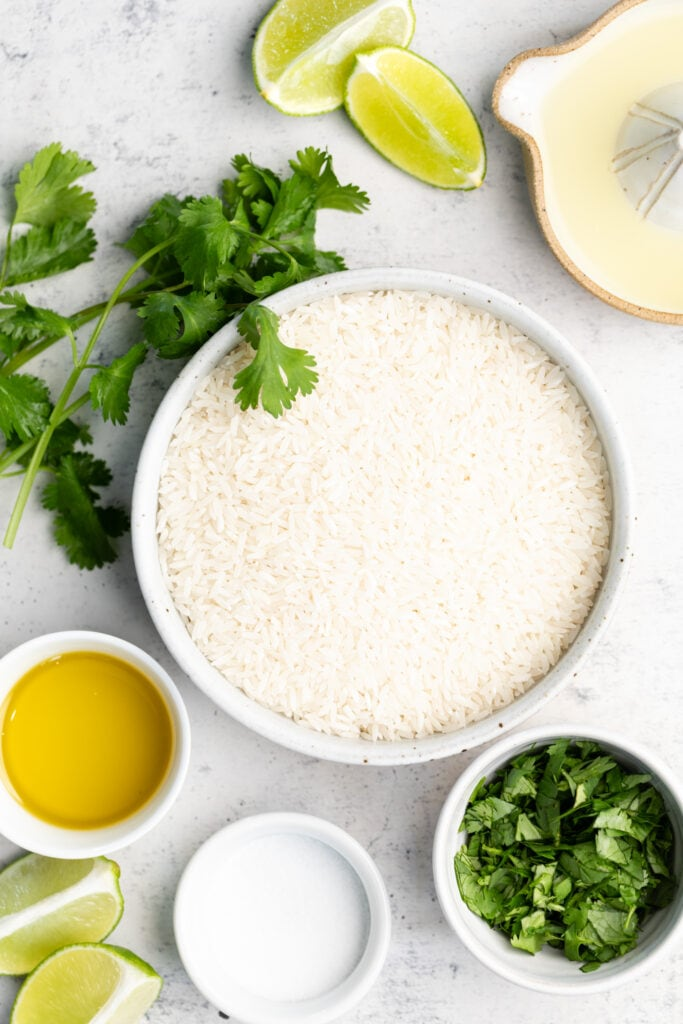 cilantro lime rice ingredients