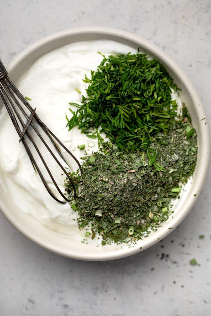 Greek Yogurt with herbs