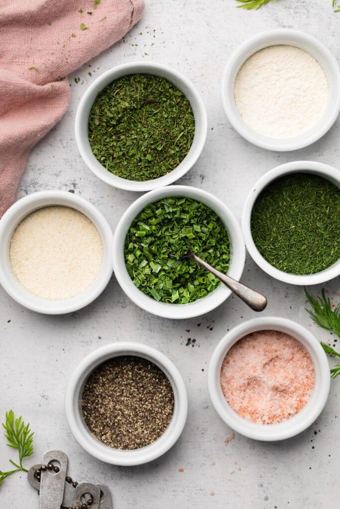 Greek Yogurt ranch dip ingredients