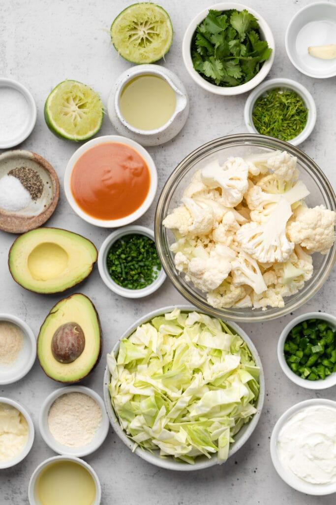 buffalo cauliflower taco ingredients