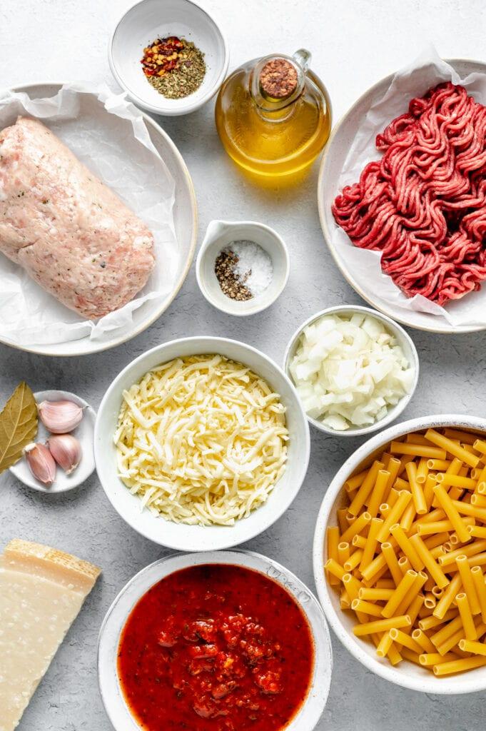 baked ziti ingredients