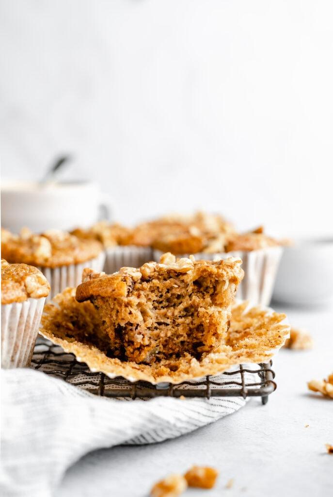 muffin bitten into