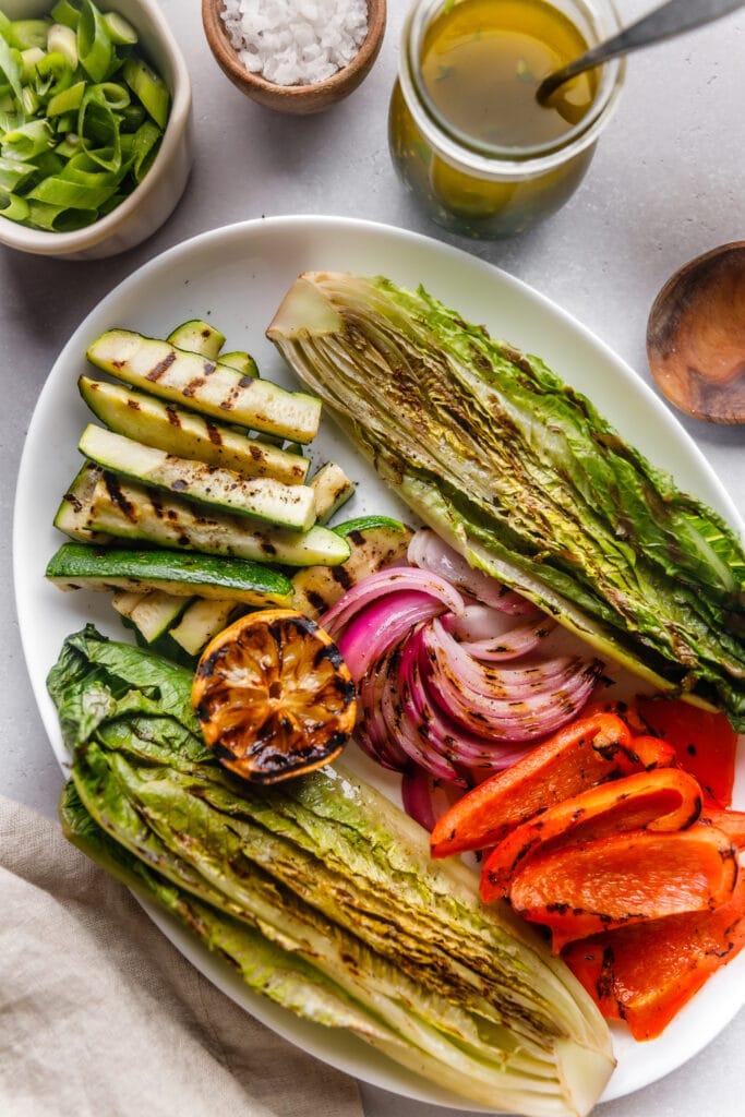 grilled veggies on platter