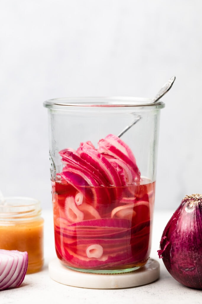 pickled onions in jar