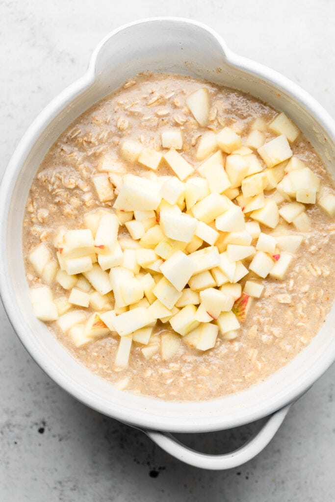 oatmeal batter with apples
