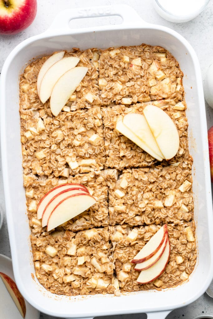 baked oatmeal in dish