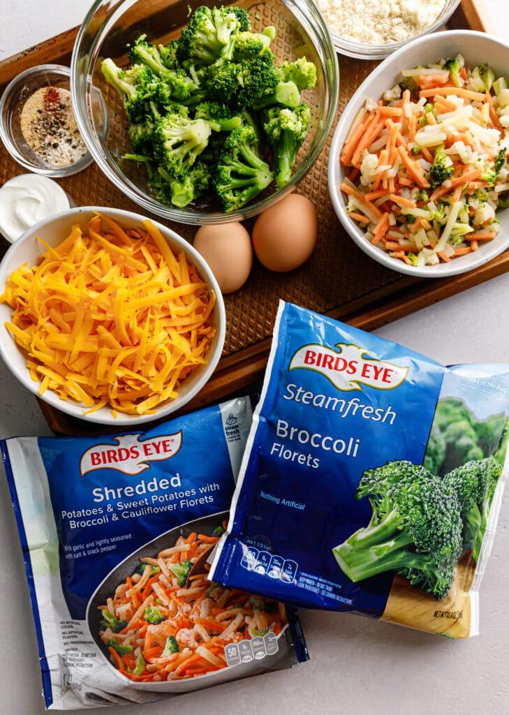 recipe ingredients on sheet pan
