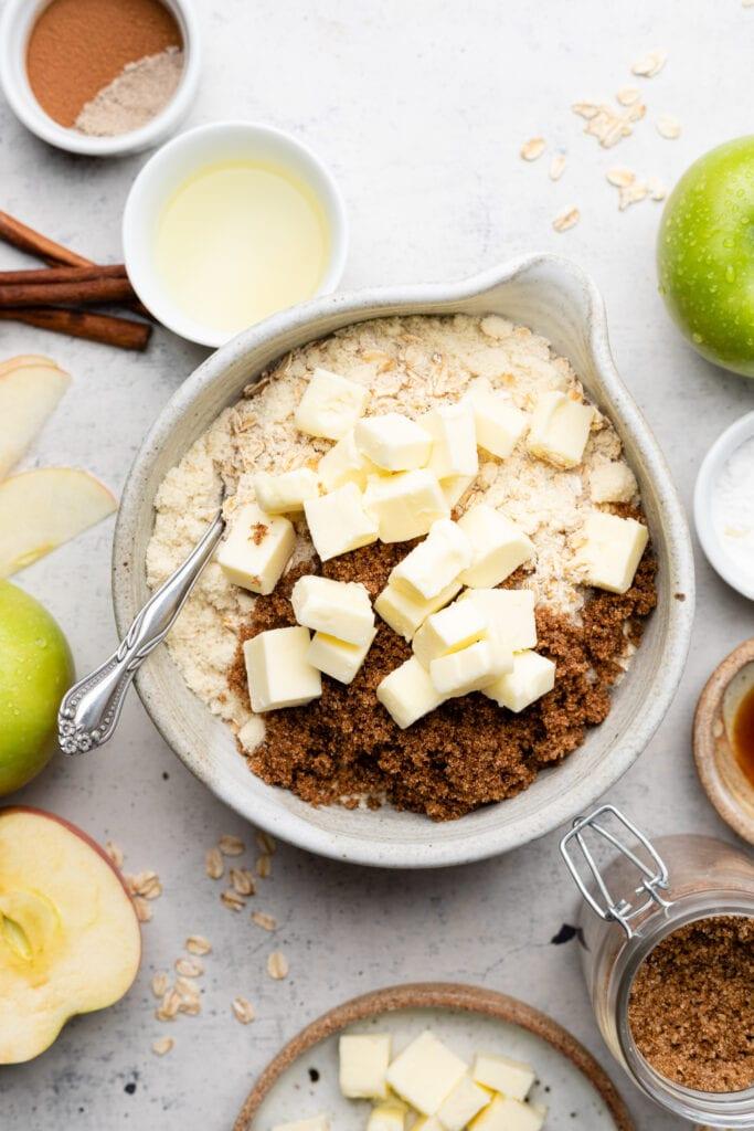 crust ingredients in bowl