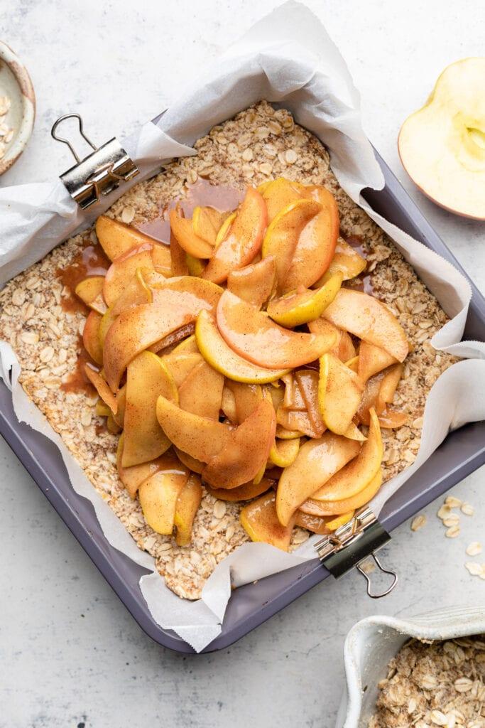 apples on crust